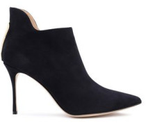 Woman Cutout Suede Ankle Boots Midnight Blue