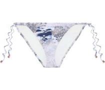 Gitana Eva Printed Low-rise Bikini Briefs Multicolor