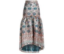 Fluted brocade maxi skirt