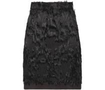 Faux fur mini skirt