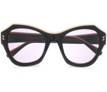 Square-frame Acetate Sunglasses Black Size --