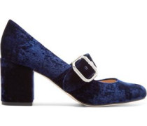 Chessie velvet Mary Jane pumps