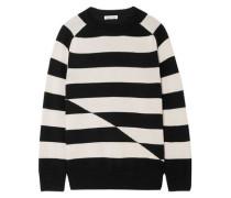 Striped Cashmere Sweater Black