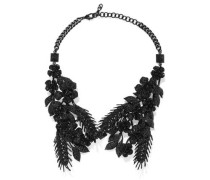 Coated Crystal Necklace Black Size --