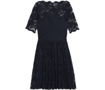 Pleated lace mini dress