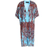 Sequined Crepe De Chine Dress Azure