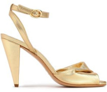 Fairy Twisted Suede Sandals Gold