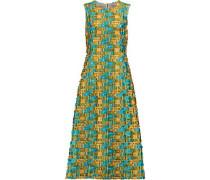 Fil coupé satin-twill maxi dress