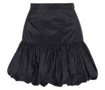 Gathered Taffeta Mini Skirt Black