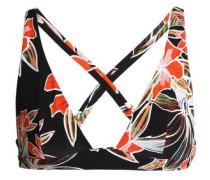 Vallie De Mai floral-print bikini top