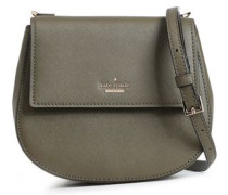Textured-leather Shoulder Bag Army Green Size --