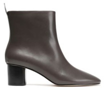 Woman Avena Leather Ankle Boots Dark Brown