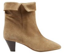 Woman Dyna Suede Ankle Boots Sand