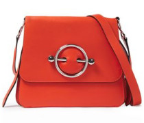 Disc Small Leather Shoulder Bag Bright Orange Size --