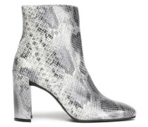Vigor snake-effect leather ankle boots