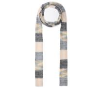 Woman Striped Wool-blend Scarf Gray