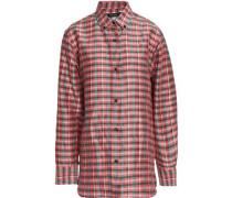 Manray checked poplin shirt