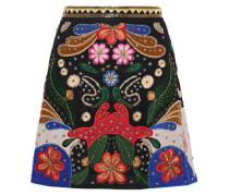 Riley embellished embroidered crepe mini skirt
