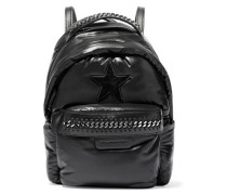 Falabella Mini GO Star chain-trimmed shell backpack