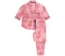 Tie-day stretch-modal jersey pajama set