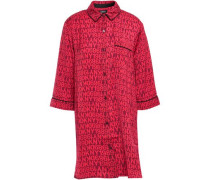 Printed Mousseline Nightshirt Red