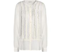 Jeronioma Ruffle-trimmed Modal Shirt Off-white