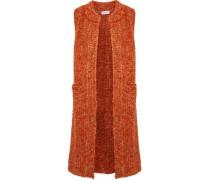 Mélange mohair-blend bouclé vest