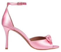 Knotted Satin Sandals Baby Pink