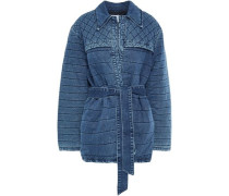 Quilted Denim Jacket Mid Denim