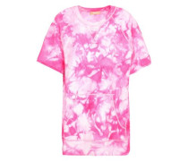 Tie-dye Knitted Top Bright Pink