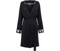 Printed stretch-modal hooded robe