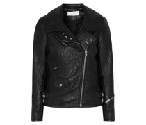 Julyet faux textured-leather biker jacket
