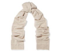 Checked Wool And Cashmere-blend Scarf Cream Size --