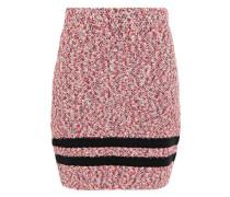 Woman Halstead Striped Cotton-blend Bouclé Mini Skirt Red