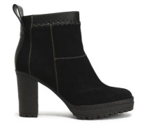 Polina patchwork suede and leather ankle boots