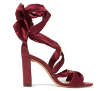 Alessa lace-up satin sandals