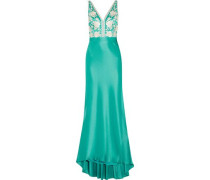 Olivia embroidered satin gown