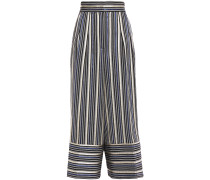 Metallic Striped Jacquard Culottes