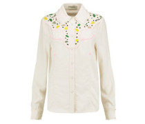 Embellished crepe shirt