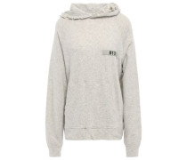 Distressed French Cotton-terry Hooded Sweatshirt Stone