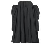 Off-the-shoulder Ruffled Shell Dress Black