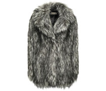Faux Fur Jacket Gunmetal