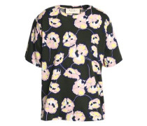 Floral-print cotton-jersey T-shirt