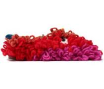 Embellished Color-block Wool Slippers Multicolor