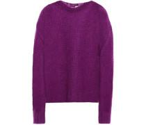 Open-knit Mohair-blend Sweater Violet