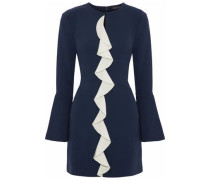Monner ruffle-trimmed crepe mini dress