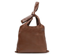 Knotted Leather Tote Brown Size --