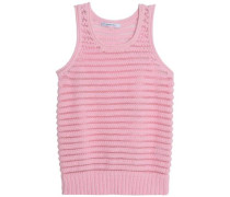 Knitted cotton-blend top
