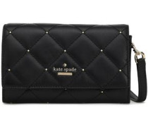 Studded Quilted Leather Clutch Black Size --