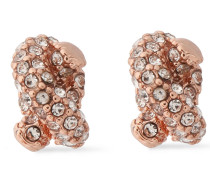 Woman Rose Gold-tone Crystal Earrings Rose Gold